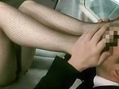 In Fishnets Foot Fetish