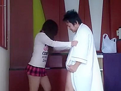 BALLBUSTING (Korean slave VSJapanese queen) GROIN KICK