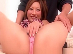Uncensored Japanese Threesome sex Aika fucked by 2 guys
