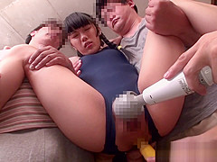 Swimsuit petite nippon toyed in ass