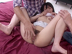 Konoha gets two men to stimulate her furry love holes