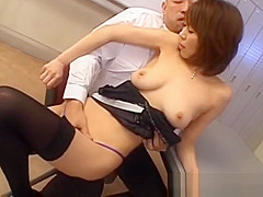 Jun Kusanagi Asian milf gets pussy licked and anus fing