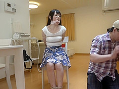 Japanese woman bound at home