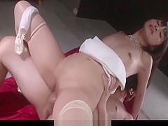 Kotomi Asakura, appealing Asian, goes naughty on cock