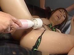 Japanese hardcore along obedient milf, Huwari