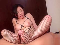 Salacious Shino Izumi exposes cunny for fuck