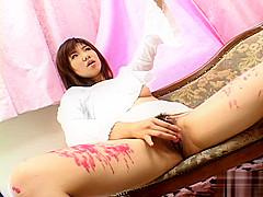Teen Japanese Babe Masturbates And Burns From Hot Wax
