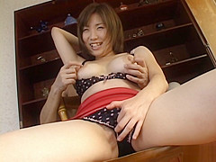 Miu Harunaga Japanese doll has big hooters to show off