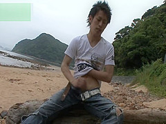 Asian Teen Masturbates By The Beach