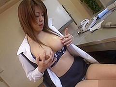 Chinatsu Nakano Asian office girl has kinky office sex