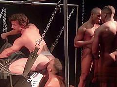Hot gay interracial with cum inside