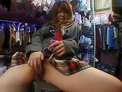 Hot Asian Girl Touching Herself