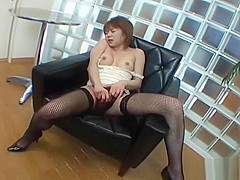 Yuuna Miyazawa in stockings masturbating part6