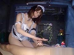 Misuzu Kawana naughty Asian maid gives hot handjob