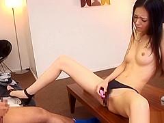 Hot Japanese milf, Aino Kishi enjoys masturbating with her vibrator