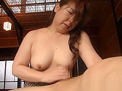 Hot mature Asian babe gives amazing head