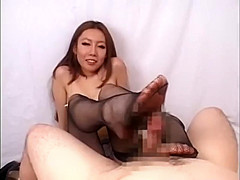 Handjob tease with long sexy fingernails