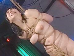 Asian cunt Ayaka Shintani bound in shibari and brutally whipped to scream