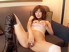 Exotic Asian milf, Nanako Mori gets fucked in high heels