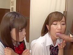 Beautiful teen Saitou Miyu in raunchy blowjob scene
