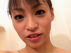 Join sexy babe as she washes her hairy pussy in the shower