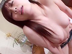 Japanese beauty, Nana Oshikiri sucks a rock hard dick, uncen