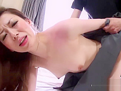 Japanese babe got creampied after hardcore sex