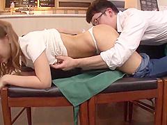 Braless japanese girl, with big nipples fucks in her job !! Part 3. Full 44 min video: http://bit.ly/2KEMO2s