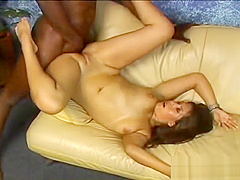 Asian babe gets shaved pussy licked part3