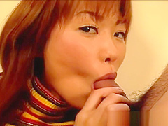 Cute redhead asian girl sucking on some part3