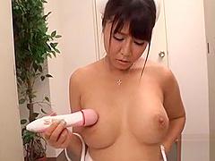 Two tough dudes are having wild joy fucking breasty asian
