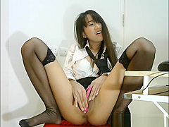 Sexy Asian Brunette Great Squirt Splash At Home
