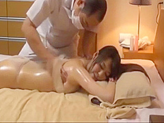 What is her name found on YouTube Japanese oil massage cute girl looking massage
