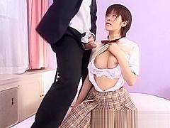 Sweet Slut Kasumi Uehara gives Blowjob part1
