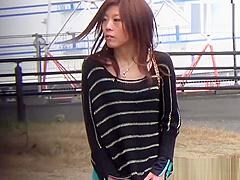 Japanese hos pee outdoors