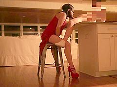 Asian Hotwife training for spitroast