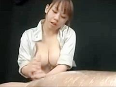 Astonishing adult scene Handjob new only here