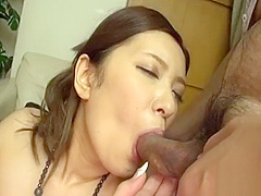 Mouthwatering japanese Chihiro Akino with big tits bends over for rear fuck