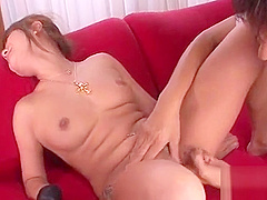 Large boobs japanese darling shows off her ultra hot booty