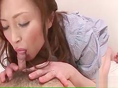 Hot MiLF Miyama Ranko teases a horny guy with her big tits un