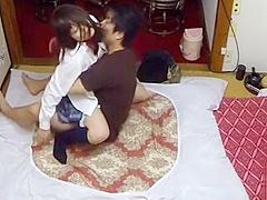 Avid sex for an oriental schoolgirl