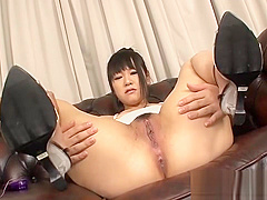 Passionate Asian couple kissing