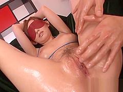 Hot slut teases mature man