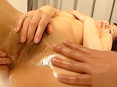Slut gets her tight cunt vibrated