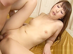 Asian couple strips and fucks