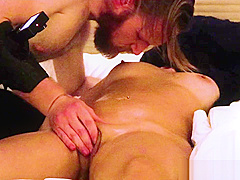 Bubble butt asian CAN'T STOP squirting! (here's why) Real amateur massage!