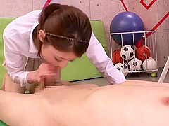 Charming hairy Japanese mom Hina Akiyoshi featuring blowjob video