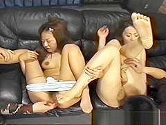 Kikurin Asso Two Asian babes Getting Masturbated
