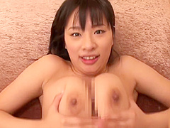 Comely busty Japanese Hana Haruna is making an amazing BJ