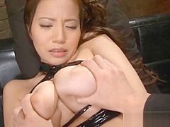Busty Asian In Lingerie Ruri Saijo Cums part1